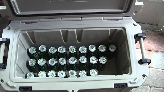 cooler filled with cans
